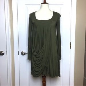 ASOS Olive Green Draped Front Dress